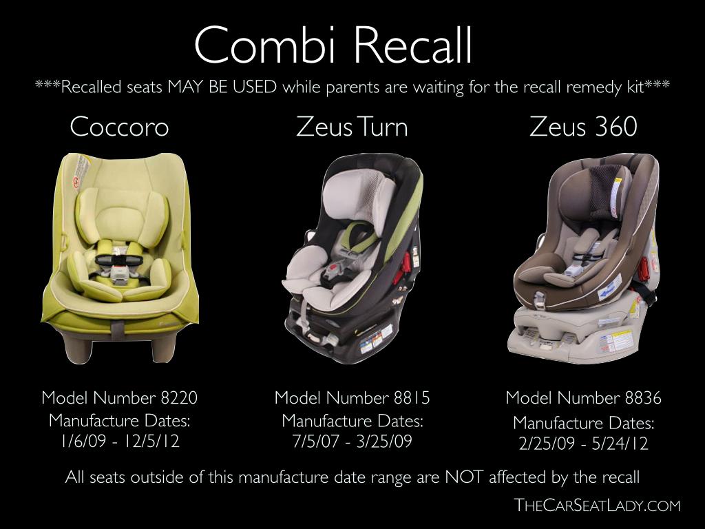 Combi Coccoro Convertible Car Seat Recall