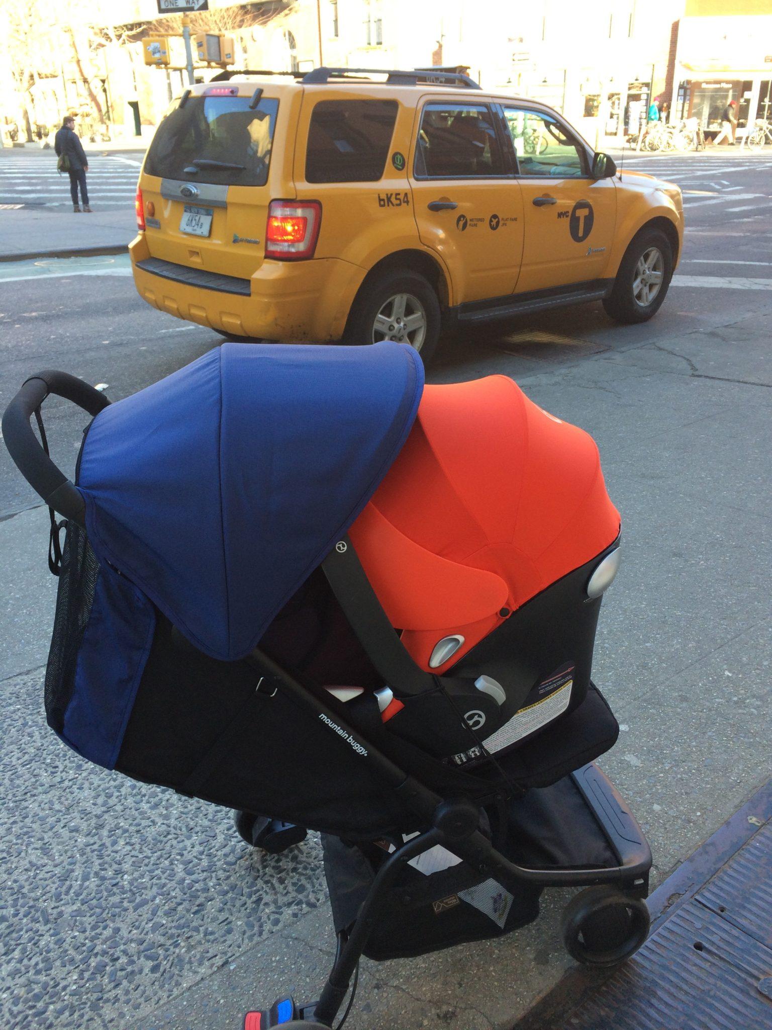 Infant Car Seats Cybex AtonQ On Mountain Buggy Nano