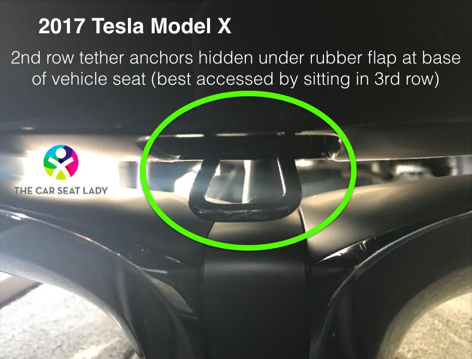 Tesla Model X Car Seat Lady