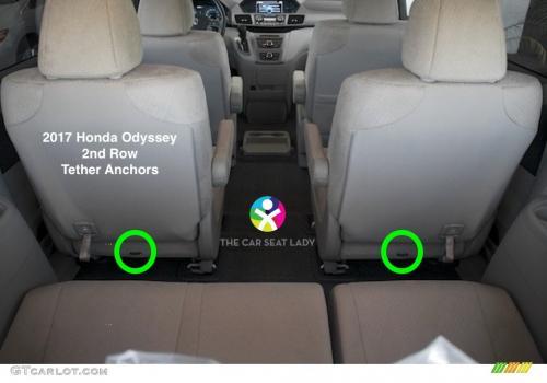 2017 Honda Odyssey 2nd Row 7 Seater Model Tether Anchors Gtcarlot