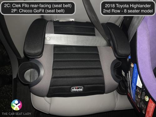 2018 Toyota Highlander 2nd Row Fllo RF 2C GoFit 2P