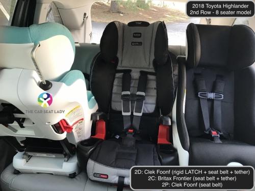 2018 Toyota Highlander 2nd Row Foonf FF Frontier Foonf RF