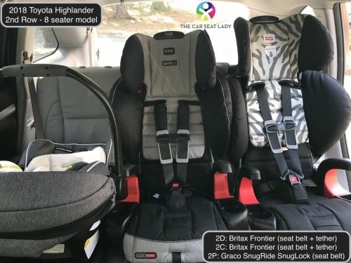 2018 Toyota Highlander 2nd Row Frontier Frontier SnugLock