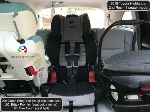 2018 Toyota Highlander 2nd Row SnugLock Frontier Foonf