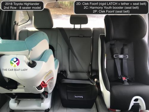 2018 Toyota Highlander 2nd row Foonf FF Harmony Youth Foonf RF