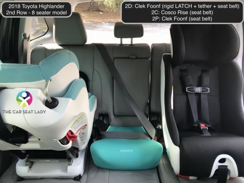 2018 Toyota Highlander 2nd row Foonf FF Rise Foonf RF