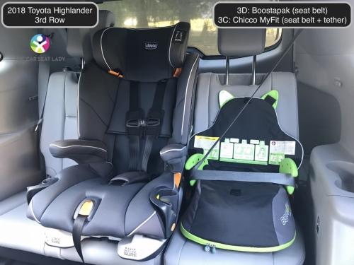 2018 Toyota Highlander 3rd row Boostapak 3D MyFit 3C