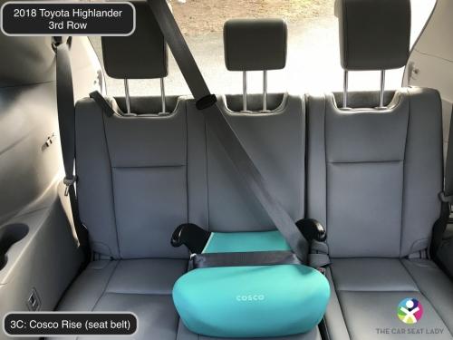 2018 Toyota Highlander 3rd row Cosco Rise in 3C