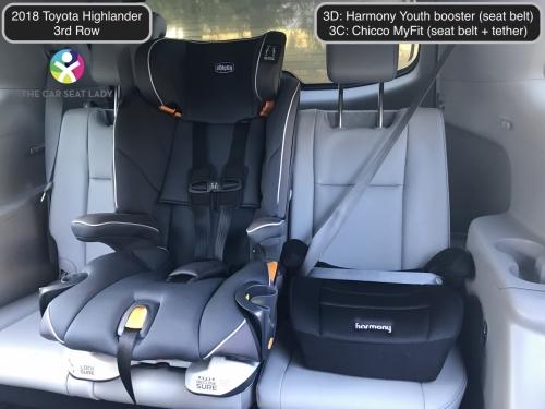 2018 Toyota Highlander 3rd row Harmony 3D MyFit 3C