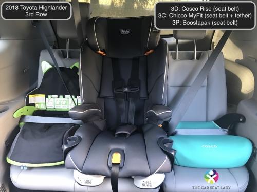2018 Toyota Highlander 3rd row Rise MyFit Boostapak