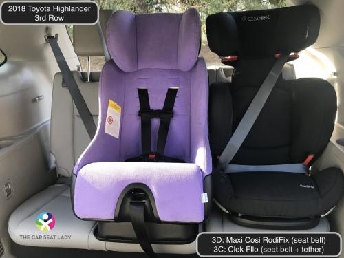 2018 Toyota Highlander 3rd row RodiFix 3D Fllo FF 3C