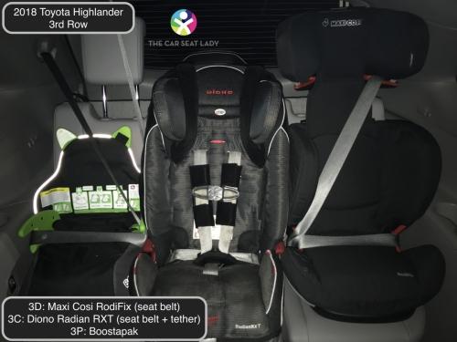 2018 Toyota Highlander 3rd row RodiFix Radian FF Boostapak