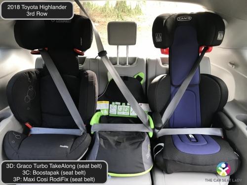 2018 Toyota Highlander 3rd row Turbo TakeAlong Boostapak EU route RodiFix