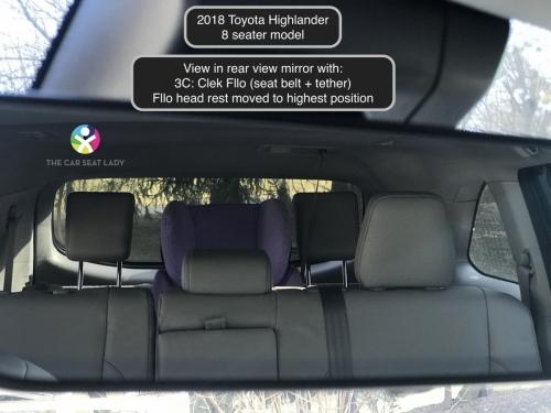 2018 Toyota Highlander rear view mirror w Fllo in 3C