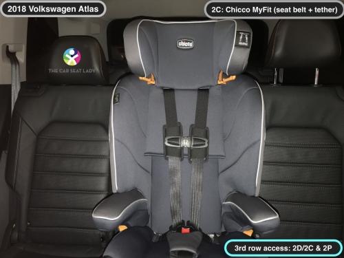 2018 Volkswagen Atlas 2nd row MyFit in 2C