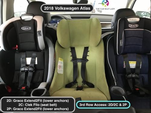 2018 Volkswagen Atlas E2F RF in 2D 2P w LATCH Fllo RF in 2C w belt