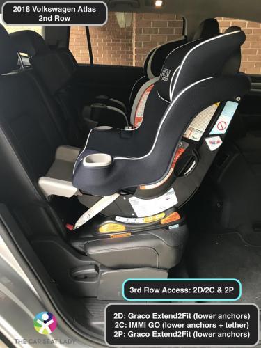 2018 Volkswagen Atlas E2F RF in 2D and 2C w IMMI GO in 2C side view.