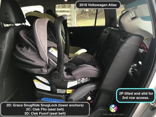 2018 Volkswagen Atlas SnugLock 2D Fllo RF 2C Foonf RF 3D