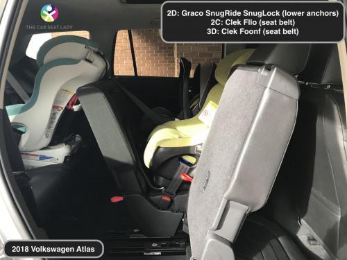2018 Volkswagen Atlas SnugLock in 2D Fllo RF in 2C Foonf RF in 3D