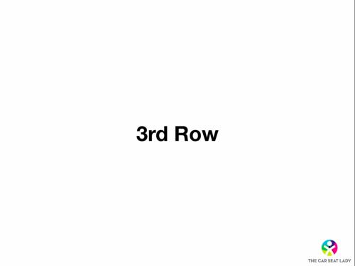 3rd row slide