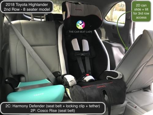 Diono Car Seat >> The Car Seat Lady – Toyota Highlander 2018